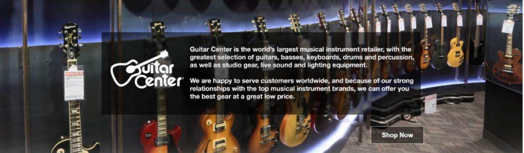 buy guitars online from guitar center