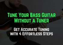 tune a bass guitar without a tuner