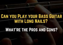 play bass with long nails
